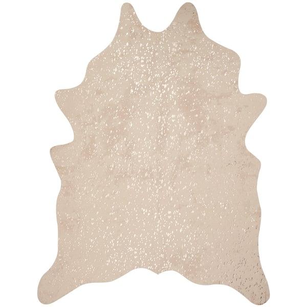 Ivory, Champagne Animals / Animal Skins Area Rug