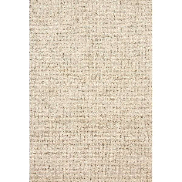 Ivory, Natural Contemporary / Modern Area Rug