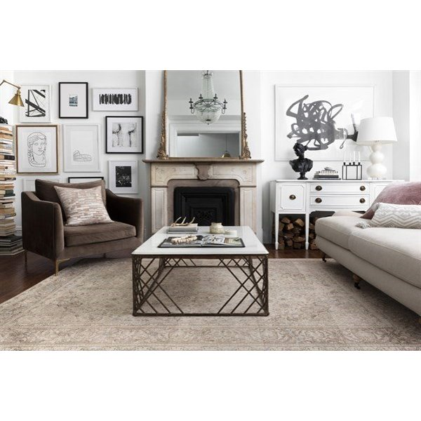 Sand, Taupe Vintage / Overdyed Area-Rugs
