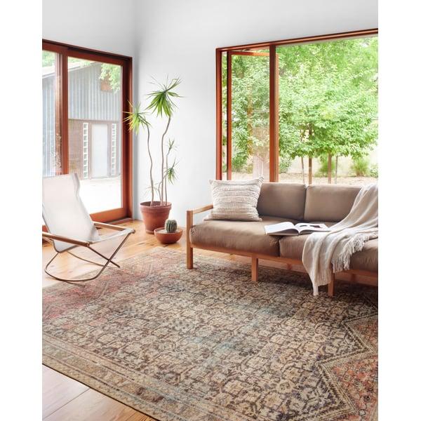 Charcoal Vintage / Overdyed Area Rug