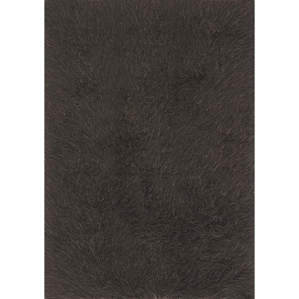 Charcoal, Grey Shag Area Rug