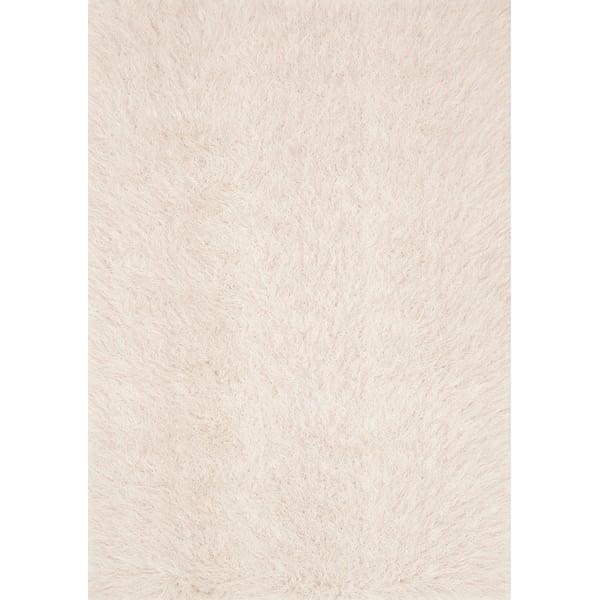 Ivory, Lilac Shag Area-Rugs