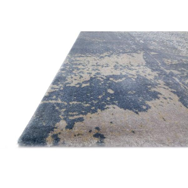 Denim, Grey Contemporary / Modern Area-Rugs