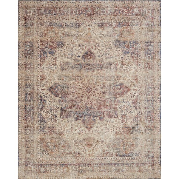 Ivory, Red Vintage / Overdyed Area Rug