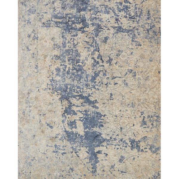 Beige, Blue Contemporary / Modern Area-Rugs