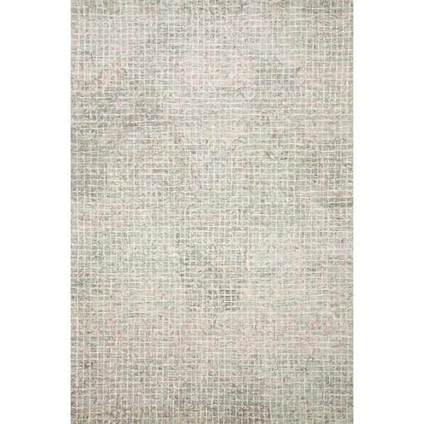 Grey, Blush Contemporary / Modern Area Rug