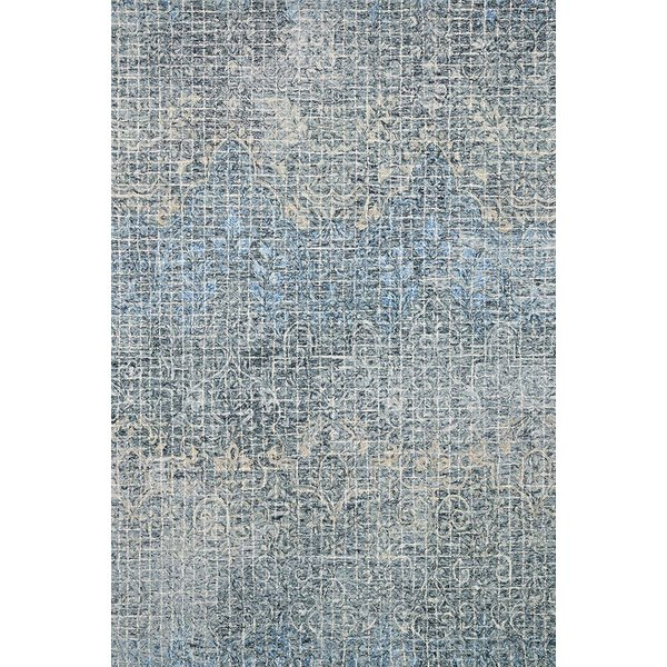 Ink, Blue Contemporary / Modern Area Rug