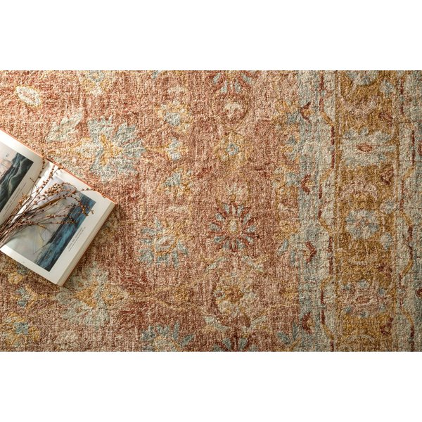 Terracotta, Gold Traditional / Oriental Area Rug