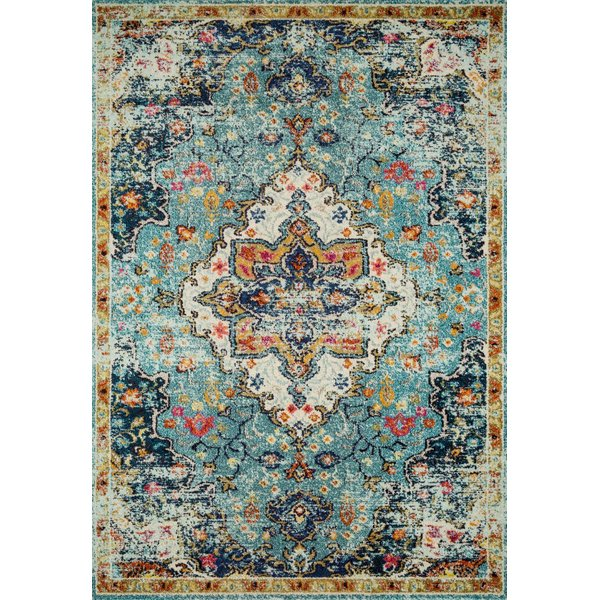Blue, Midnight Traditional / Oriental Area Rug