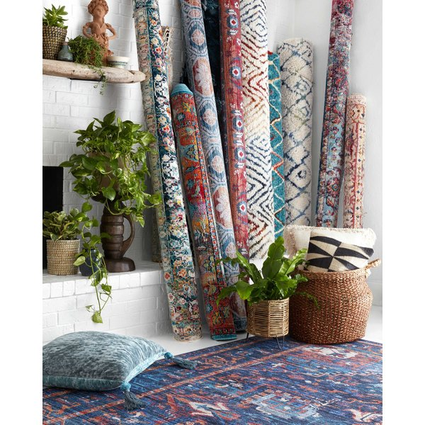 Natural, Red, Pink Bohemian Area-Rugs