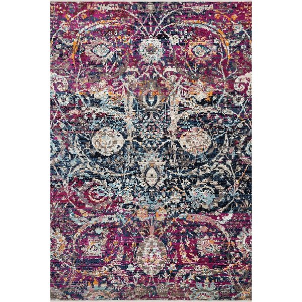 Midnight, Fuchsia Traditional / Oriental Area Rug