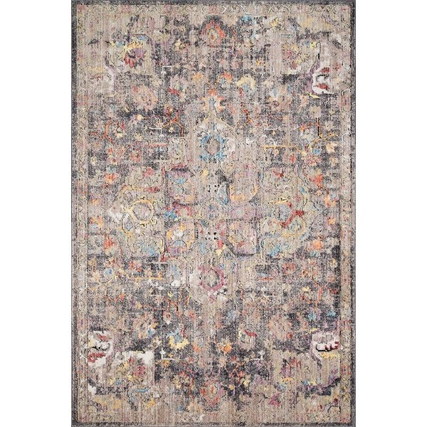 Charcoal, Fiesta Vintage / Overdyed Area Rug