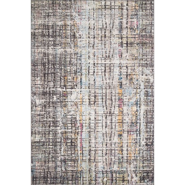 Charcoal Abstract Area Rug