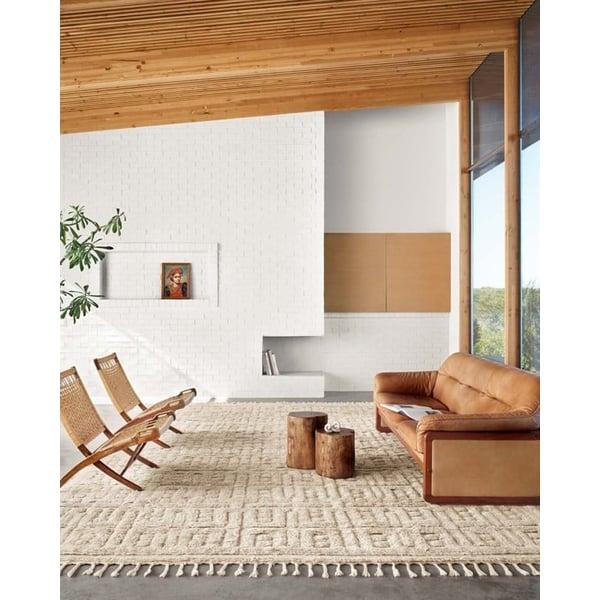 Oatmeal, Sand Contemporary / Modern Area Rug