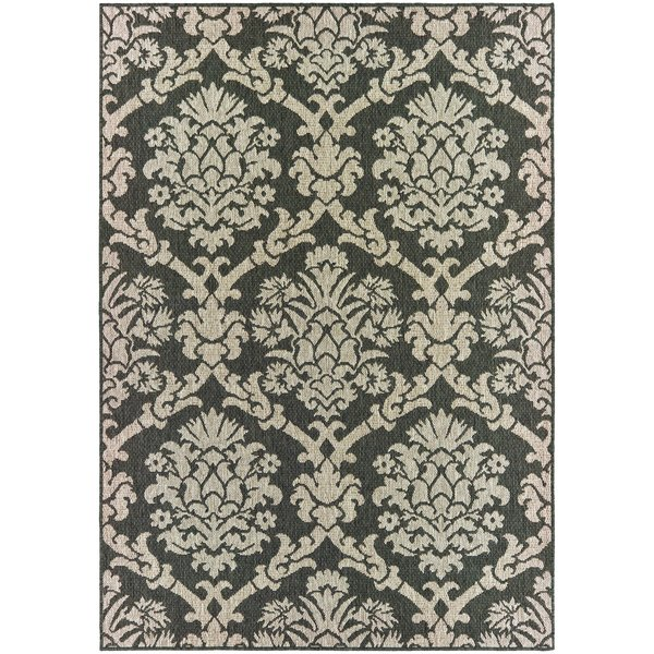 Grey, Charcoal (K) Traditional / Oriental Area-Rugs