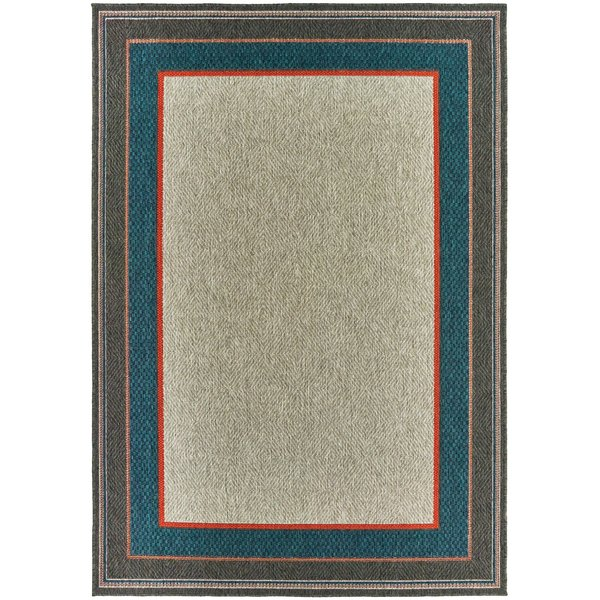 Grey, Blue (L) Contemporary / Modern Area-Rugs