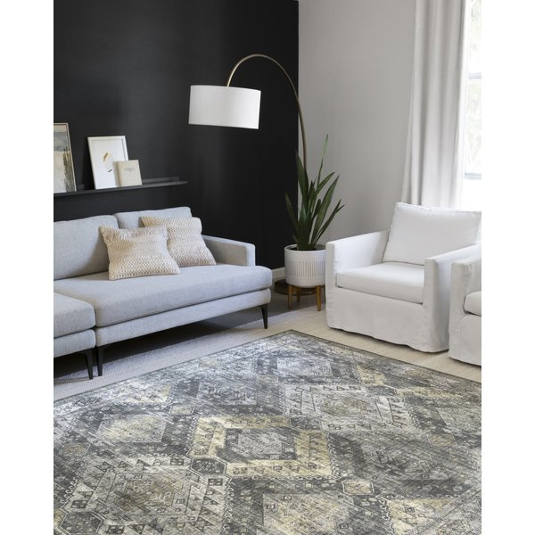 Graphite, Silver Vintage / Overdyed Area-Rugs
