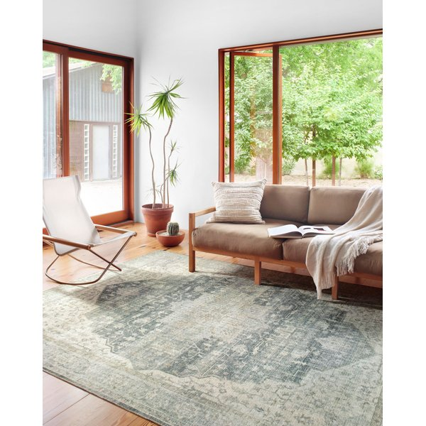 Charcoal, Dove Vintage / Overdyed Area Rug