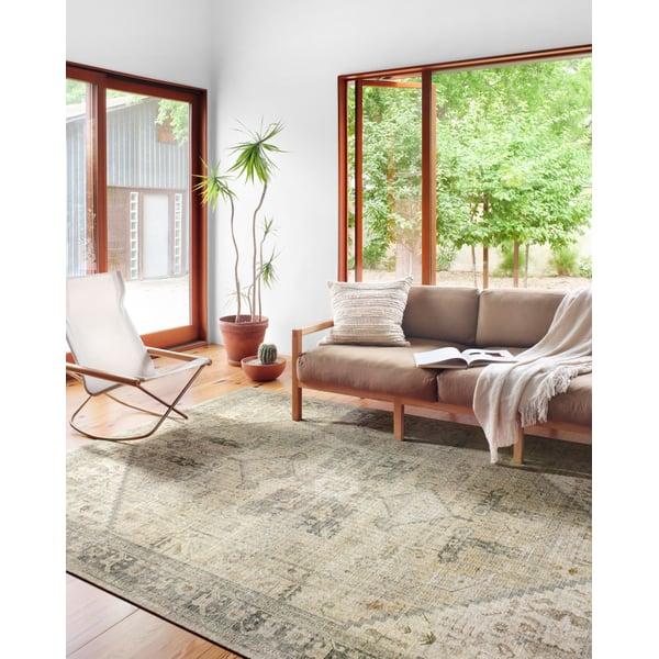 Natural, Sand Vintage / Overdyed Area Rug