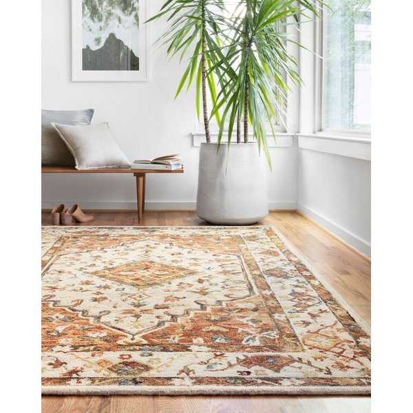 Ivory, Rust Traditional / Oriental Area-Rugs