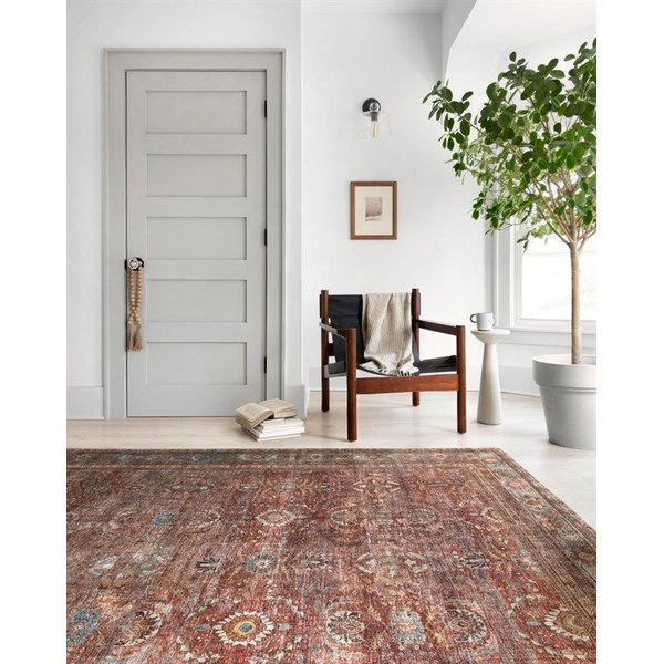 Brick, Blue Traditional / Oriental Area Rug