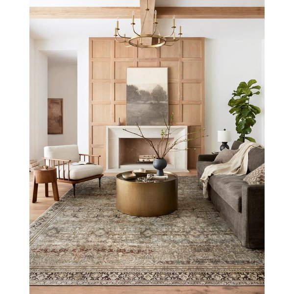 Olive, Charcoal Traditional / Oriental Area Rug