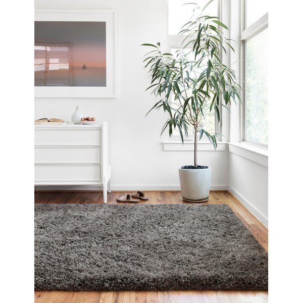 Charcoal Shag Area Rug