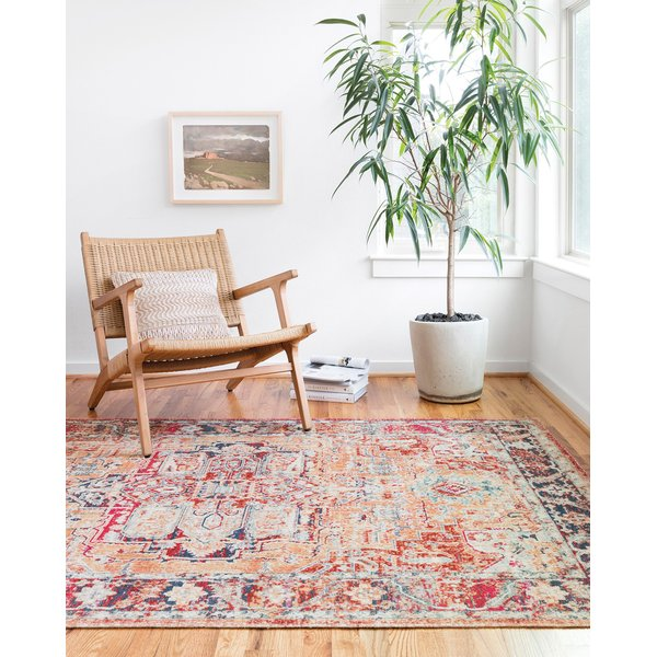 Lava, Navy Traditional / Oriental Area Rug
