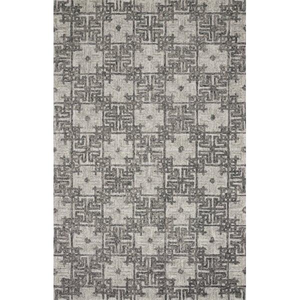 Charcoal, Fog Contemporary / Modern Area Rug