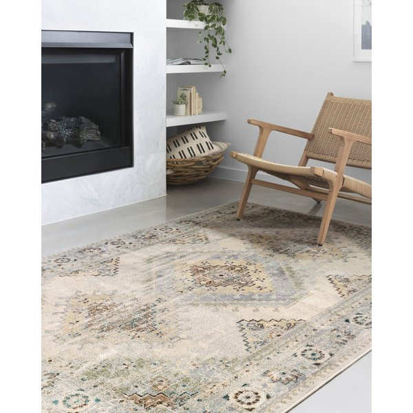Oatmeal, Silver Vintage / Overdyed Area Rug