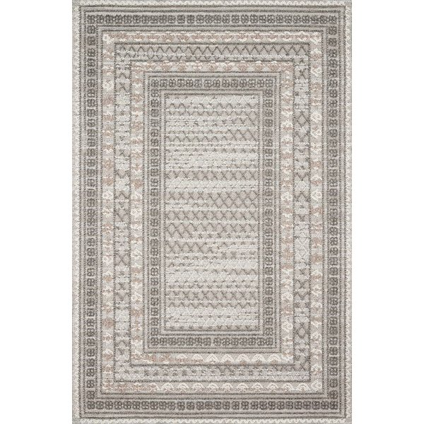 Grey, Taupe, Ivory Contemporary / Modern Area-Rugs