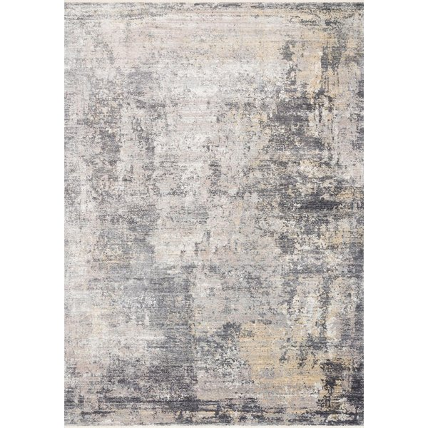 Taupe, Grey, Gold Abstract Area-Rugs