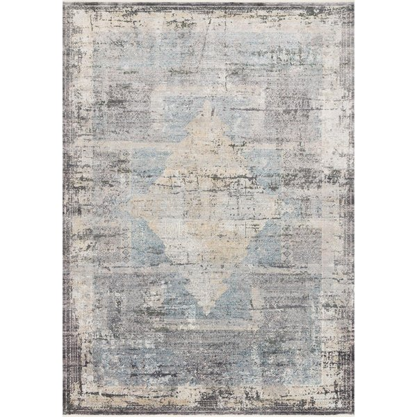 Charcoal, Slate, Gold Vintage / Overdyed Area-Rugs