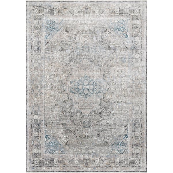 Charcoal, Silver, Blue Vintage / Overdyed Area-Rugs