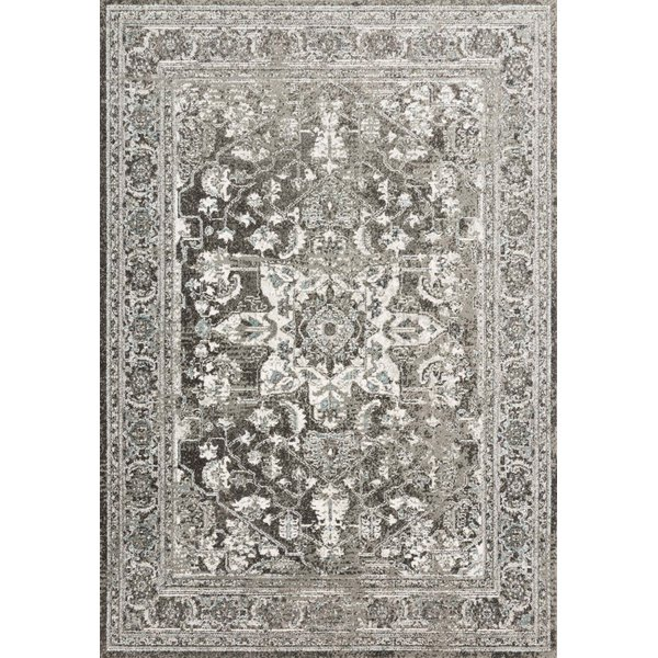 Charcoal, Ivory Traditional / Oriental Area-Rugs