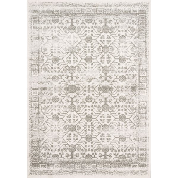 Ivory, Grey Vintage / Overdyed Area-Rugs
