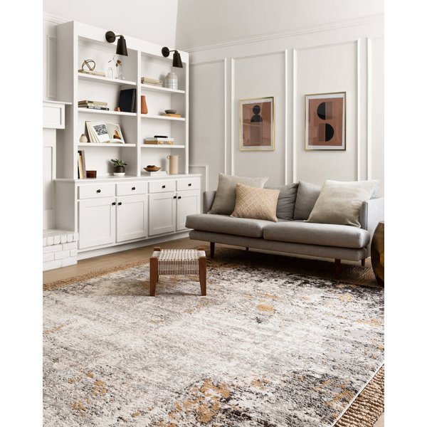 Granite, Gold Abstract Area-Rugs