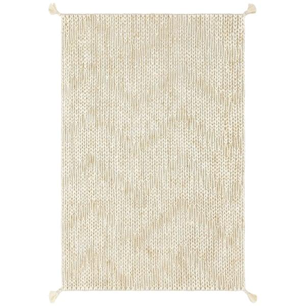 Light Grey, Ivory Bohemian Area-Rugs