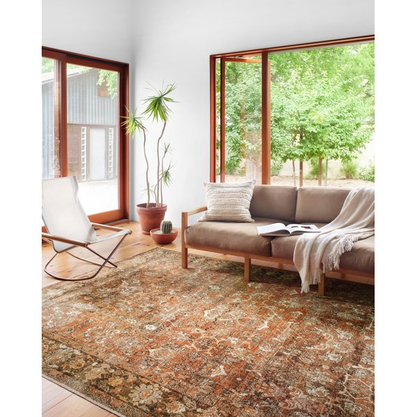 Rust, Tobacco Vintage / Overdyed Area Rug