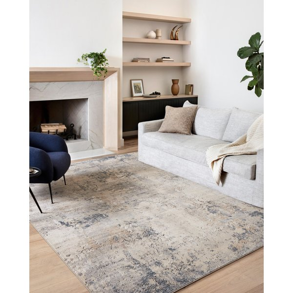 Sand, Mist Abstract Area Rug