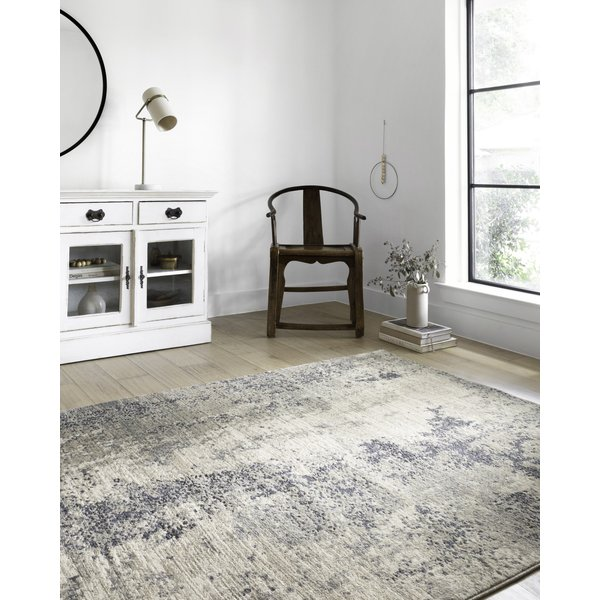 Natural, Denim Abstract Area-Rugs