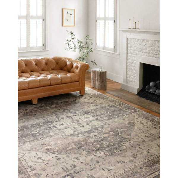 Steel, Ivory Traditional / Oriental Area Rug