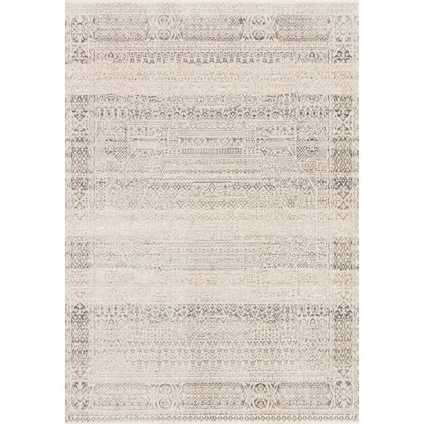 Ivory, Silver Vintage / Overdyed Area Rug