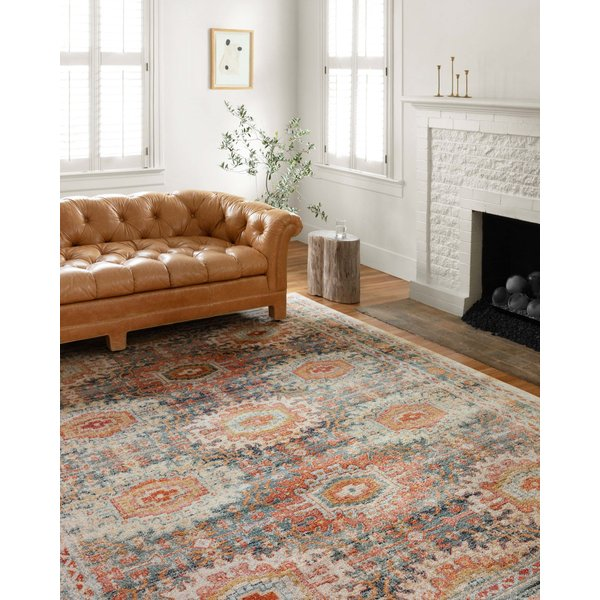 Mist, Ivory, Orange Vintage / Overdyed Area Rug
