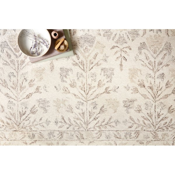 Ivory, Neutral Floral / Botanical Area Rug
