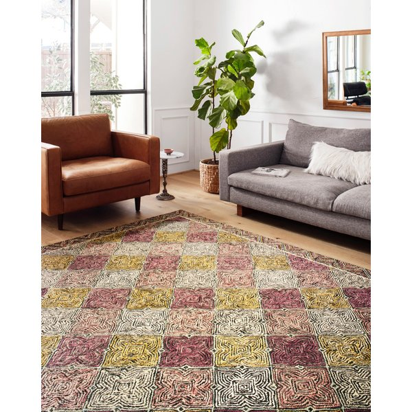 Charcoal, Plum, Gold Contemporary / Modern Area-Rugs