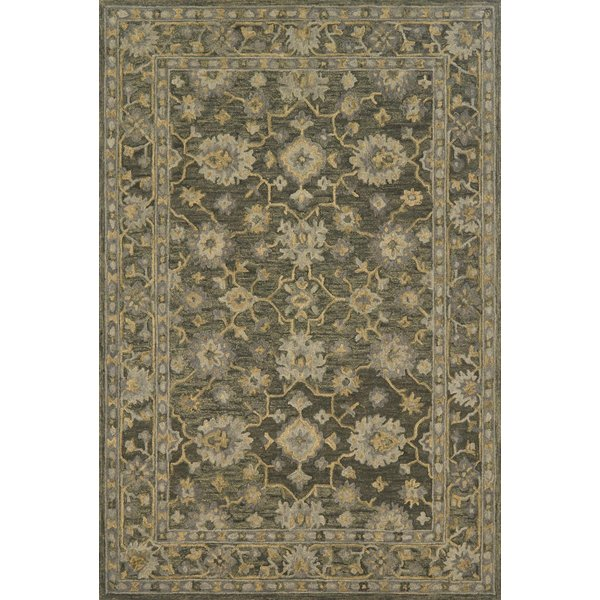 Charcoal Traditional / Oriental Area-Rugs