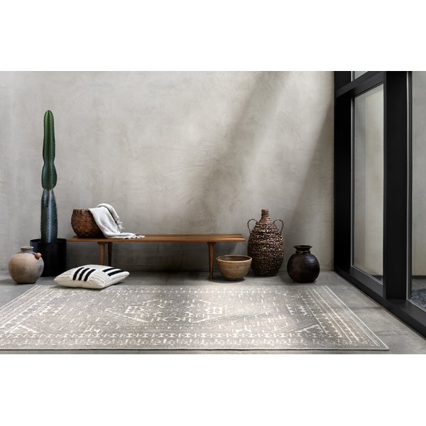 Charcoal, White Contemporary / Modern Area-Rugs