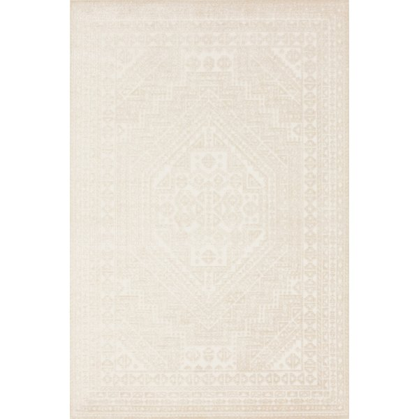 Ivory, White Contemporary / Modern Area-Rugs