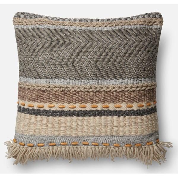 Grey, Beige, Brown Bohemian pillow